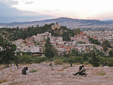 Filopapou Hill in Athens Greece